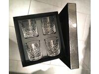 Crystal Cut Glass Tumblers(set of 4)