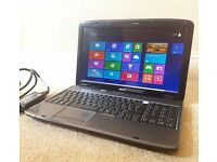 "Excellent Acer Aspire Laptop,15.6"" LED Display,Wifi,Webcam,3GB RAM,Win 8 , MS Office+Charger"