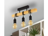 EGLO Townshend Ceiling Light and 3 Eglo 11722 LED bulbs