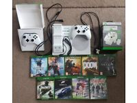Xbox One S 1TB, 2 Controllers, Charging Dock and Games Bundle