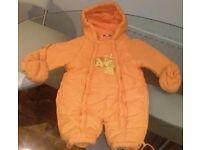 snowsuit orange for baby - 62 cm