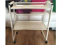 CACI non surgical face lift trolley. Beauty tattoo trolley.
