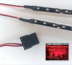 RED MODDING PC CASE LIGHT LED KIT (TWIN 30CM STRIP) MOLEX 40CM TAILS