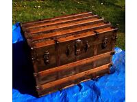 Large antique trunk by Everwear of New Jersey.