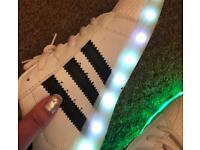 LED colour changing trainers