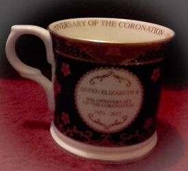 Royal Worcester Queen Elizabeth ll. Anniversary of the Coronation 1953 - 2013 Mug.
