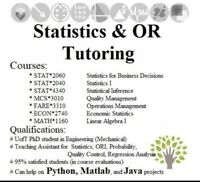 Statistics, Operations Research, Probability tutoring
