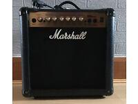 Marshall Amplification MG15CDR Combo - 15 Watt Electric Guitar Amplifier Like New