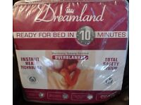 Dreamland single electric blanket .