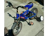 Micro Raleigh Kids Bike with stablisers Age 2-5