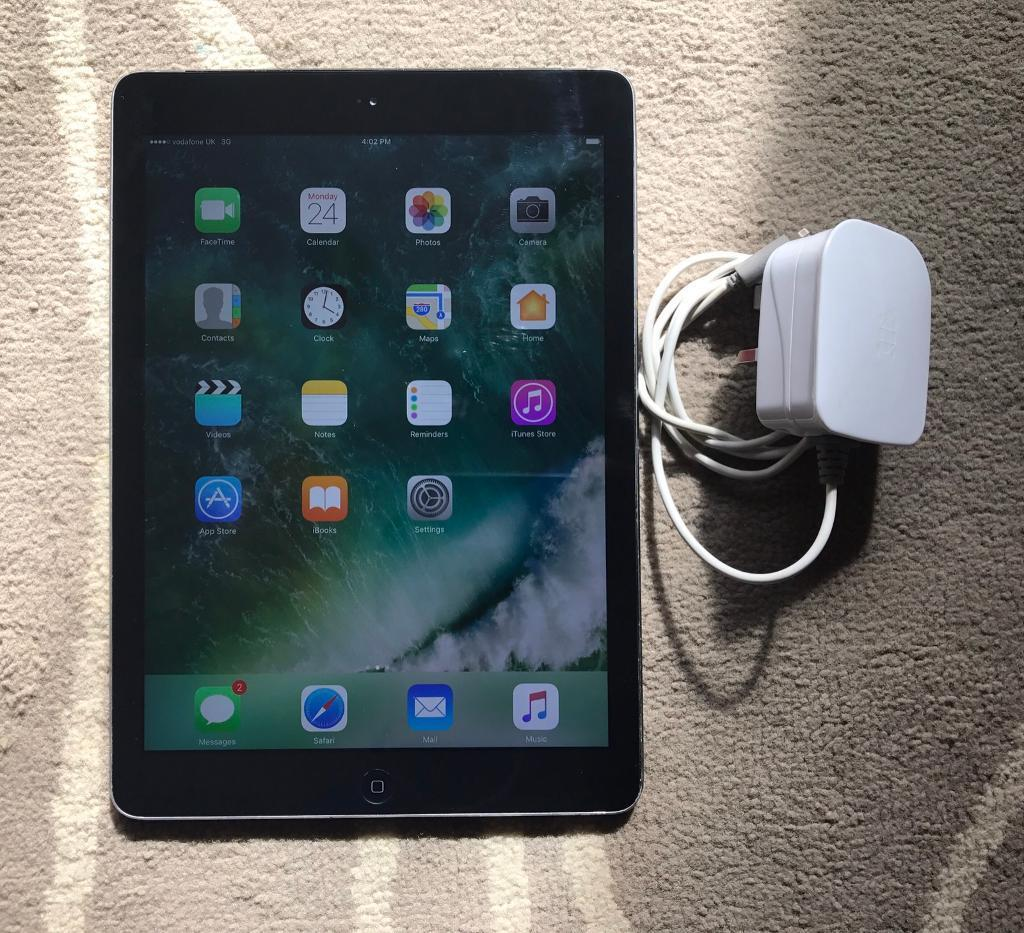 iPad Air 16gb wifi and Vodafonein Beeston, NottinghamshireGumtree - iPad Air 16gb fully working comes with tortoise fast charger does has scuffs on the back from last owner as Ive hardly used it. only selling due to not being used cheap because of the scuffs £135 no offers