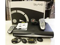 Sky HD+ Box Model: DRX890 250Gb, Power Cable, 2 Remotes and 2 TV Link 'Magic Eyes'