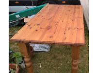 5ft Pine Farmhouse-style Kitchen table