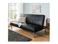 Sienna Faux Leather Black Sofa bed Click Clack 3 position RRP £199 Brand new boxed
