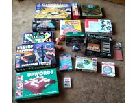 Job lot of board games, puzzles, electronic toys, optical illusions & more [very likely gone]
