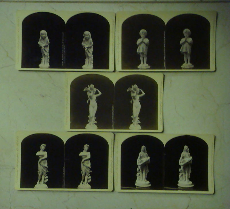 Group of 5 1876 Centennial Exhibition Stereo Cards (FREE SHIPPING)