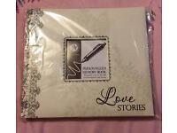 Love Stories Self-Making Personalised Memory Book Brand New & Sealed