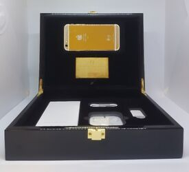 iPhone 6S - 128GB - LOOK - 24Kt Gold iPhone encrusted with crystals - unlocked - with luxury box