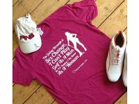 Teesfortours T-shirt to be awarded to the golfer in last place on a golf tour/society day