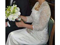 Ivory wedding dress and bolero size 12