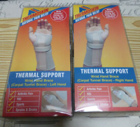 Thermoskin Wrist/Hand Braces – both R & L hands – Large - new