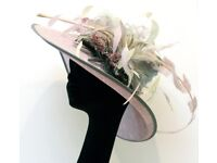 STUNNING Woman's Hat purple + grey - Ascot, Evening, Occasion, Luxury wear *NEW*