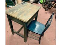 Old Fashioned Child Desk and Chair