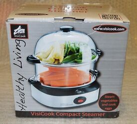VisiCook Compact Steamer and Egg Cooker, 360 W