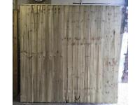 🏅New Flat Top Feather Edge Timber Fence Panels