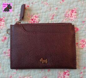 Radley 'Pocket Bag' dark brown leather card purse/wallet - New - RRP: £29