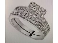 1.5 Carat Diamond Bridal Set with Certificate