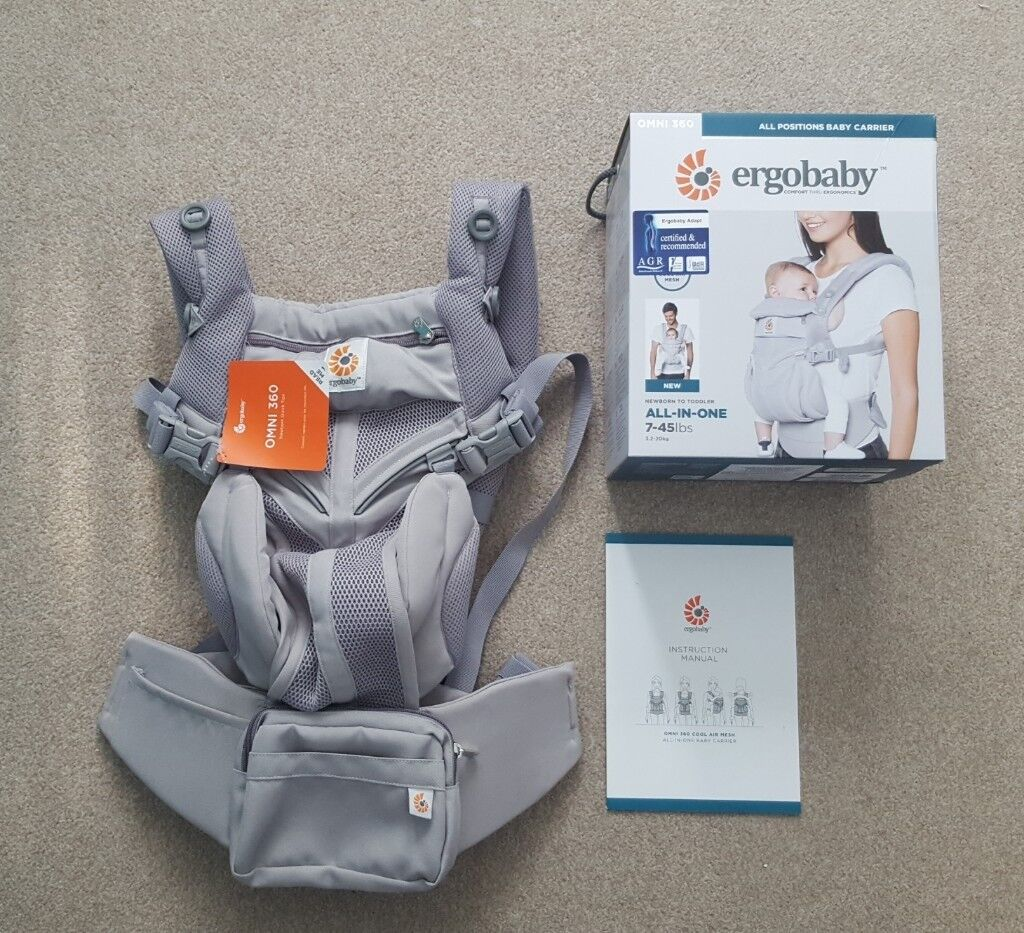 eb614480109 Brand new Ergobaby omni 360 cool air pearl grey baby carrier