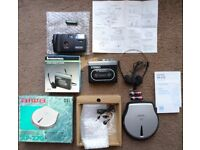 NEW/UNUSED! Portable Cassete Player, AIWA Portable CD Player & 35mm Camera with Flash RETRO TECH!