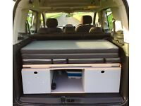 Citroen berlingo micro campervan 5 Seats fitted mobile unit can be left in the boot or removed