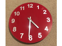 Red wall clock - perfect working condition
