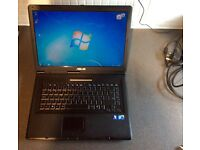 Asus laptop 120gb Hdd 2gb Ram Core2Duo 2.0 Win7. £75