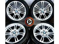 "18"" Genuine BMW M Sport 5 series alloys staggered, excellent cond premium tyres"
