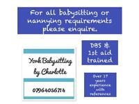 Babysitting and Nannying