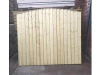 🌳Tanalised Wooden/Timber Close Board Bow Top Garden Fence Panels
