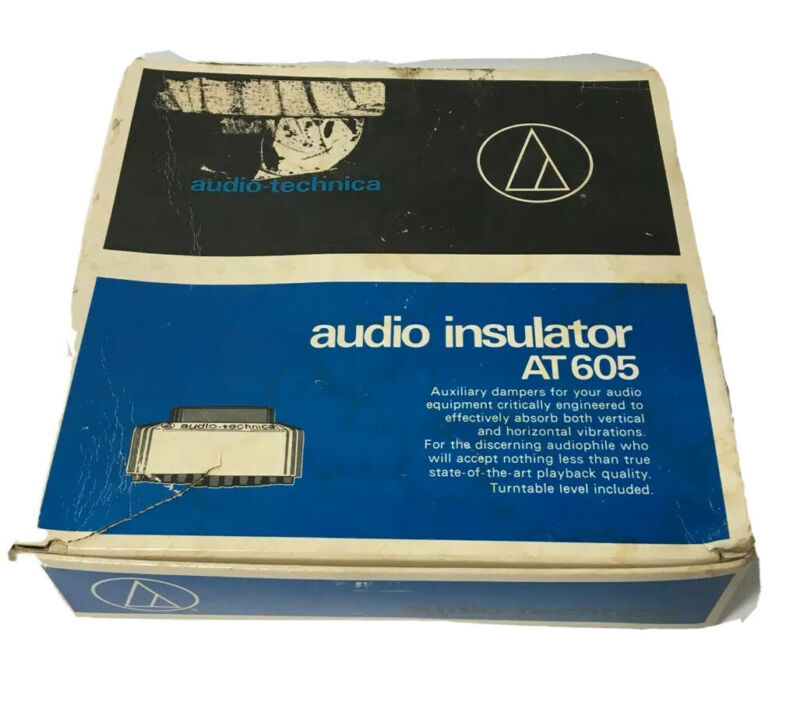 Audio Technica Audio Insulator AT 605 Complete w/ Box & Instructions Dampers EUC