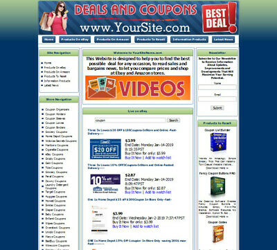 Deals And Coupons Business Website For Sale.