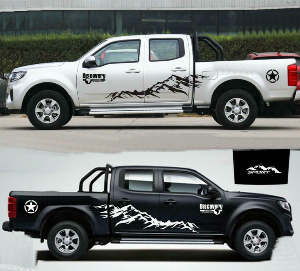 Details about graphics vinyl snow mountain sticker hood decal fit nissan navara pickup trucks