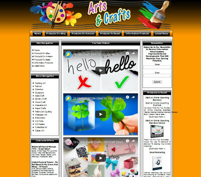 Established Art And Craft Make Money Affiliate Online Business Website For Sale