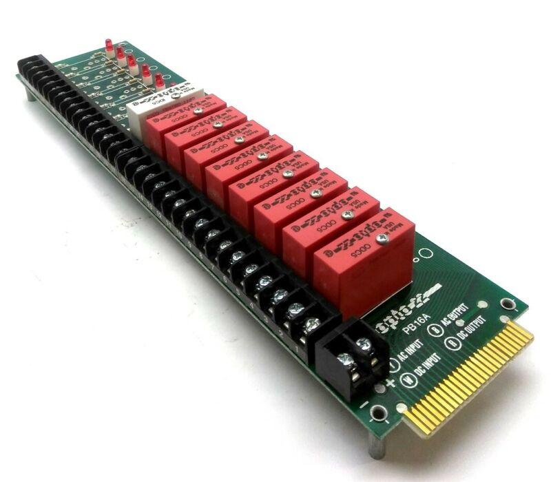 Opto 22 PB16-A I/O Mounting Rack, 16x G1 Relays, 5, 15, 24V, w/ 8x ODC5, IDC5