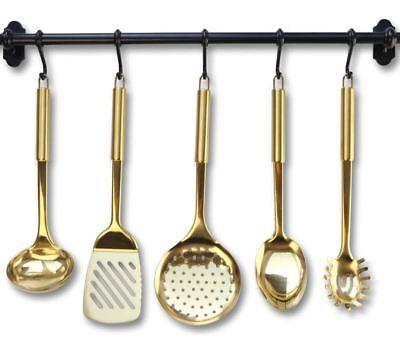Best Gold Cooking Utensils Brass Kitchen Utensils Modern Cooking and Serving