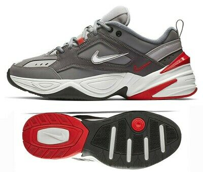 New NIKE M2K Tekno Sneaker Casual Shoes gray red all sizes