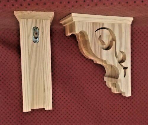 PAIR of Victorian Design Wood Corbels (#2108D)
