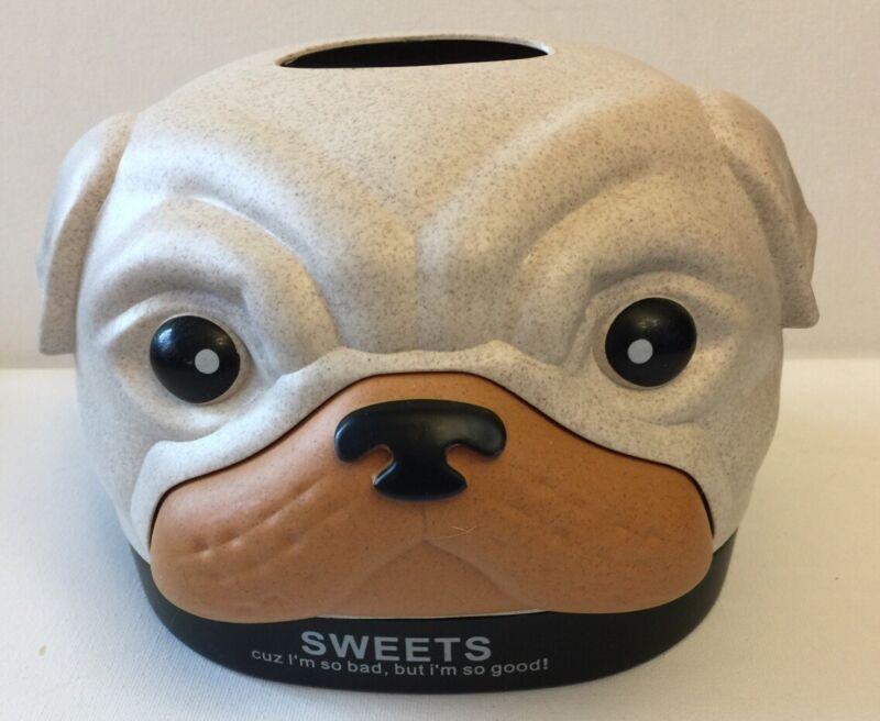 Pug Hard Plastic Tissue Box Decorative Holder