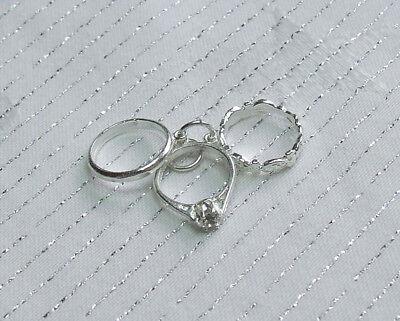 3 Stück Hochzeit Verlobung Ewigkeit Ring Set Amulett 925 Sterlingsilber (Hochzeit Ring 3 Stück Set)