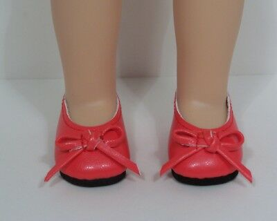 Red Ballet Flats For Girls (RED Ballet Flats Doll Shoes For 14
